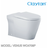 CLAYTAN Venus Back to Wall Pan WC4709P, Bathroom W.Cs, CLAYTAN - Topware Solutions