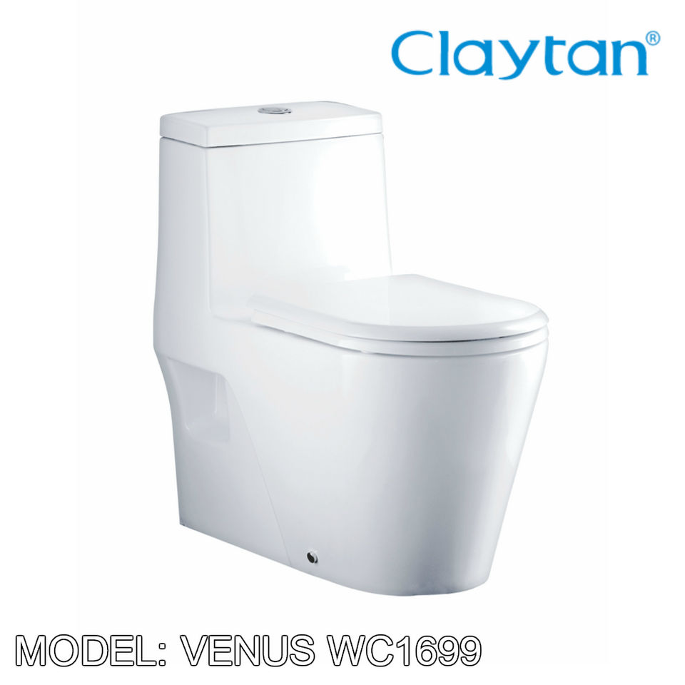 CLAYTAN Venus One Piece Pan WC1699, Bathroom W.Cs, CLAYTAN - Topware Solutions