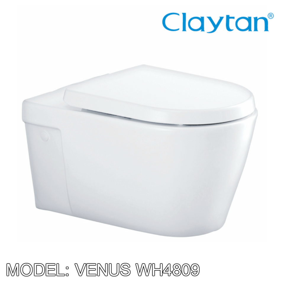 CLAYTAN Venus Wall Hung Pan WH4809, Bathroom W.Cs, CLAYTAN - Topware Solutions