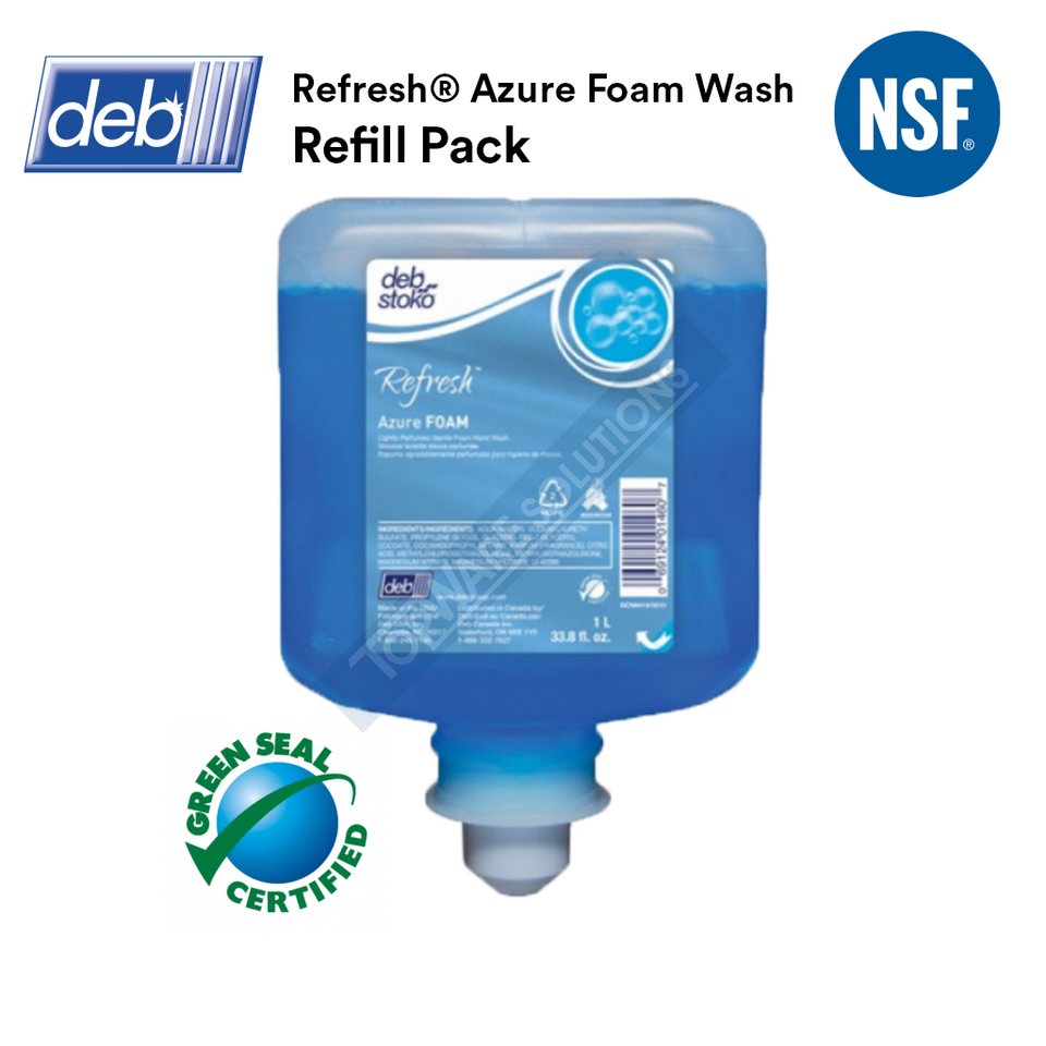 DEB Azure Foam Hand Soap Refill Pack 1L, Hygiene Solution, DEB - Topware Solutions