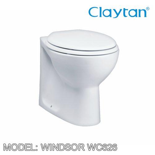 CLAYTAN Windsor Back to Wall Pan WC626, Bathroom W.Cs, CLAYTAN - Topware Solutions