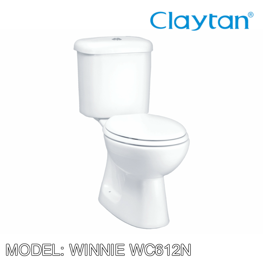 CLAYTAN Winnie Close Couple Pan WC612B, Bathroom W.Cs, CLAYTAN - Topware Solutions