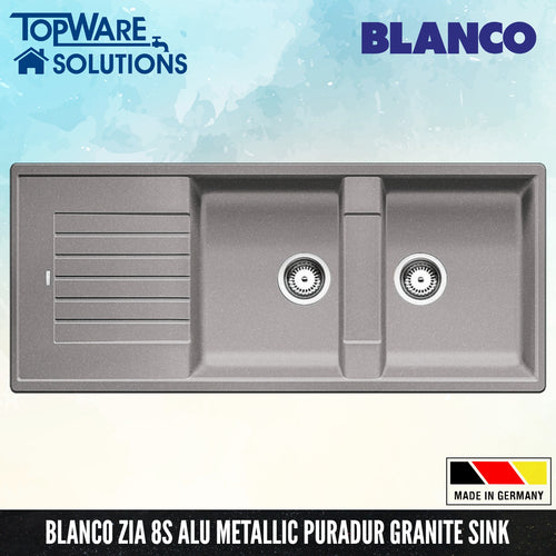 BLANCO Zia 8S Silgranit™ PuraDur™ Granite Sink, Kitchen Sinks, BLANCO - Topware Solutions