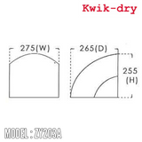 Kwik Dry Hand Dryer ZY203A, Hand Dryers, KWIK-DRY - Topware Solutions