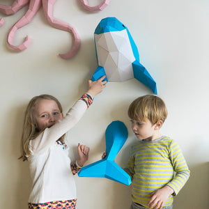 Fin the Dolphin - Papercraft Sculpture Kit