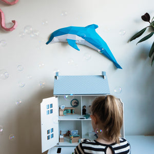 Flip the Dolphin - Papercraft Sculpture Kit