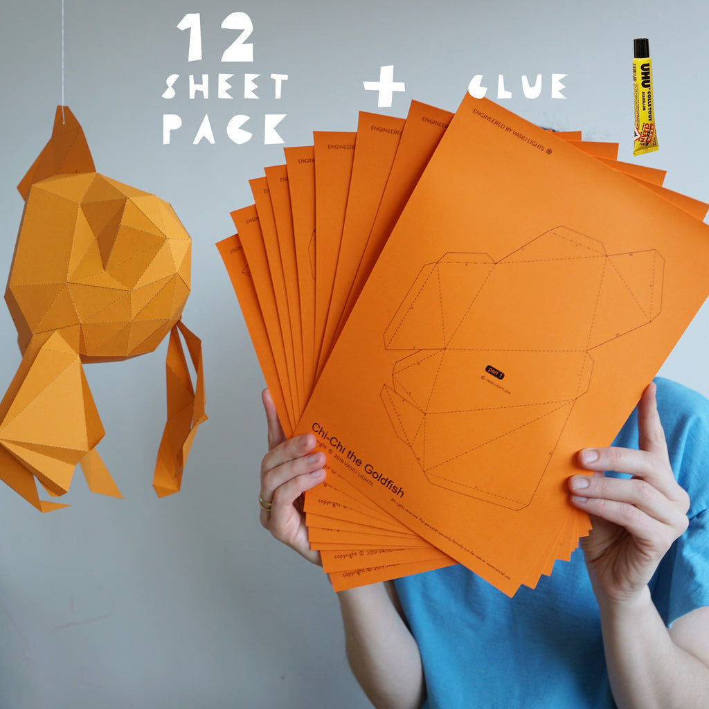 Chi-Chi the Goldfish - Papercraft Sculpture Kit
