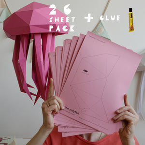 Luau the Jellyfish - Papercraft Sculpture Kit