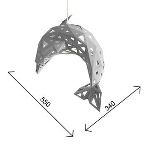 Dimensions of the Dolphin paper lampshade.