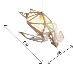 The dimensions of the Sea Turtle papercraft lampshade.