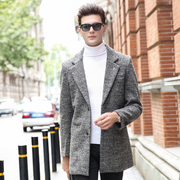 398bfc76a0 Fashion Brand-Clothing Mens Wool Coat Business Casual Mens Pea Coat Top  Grade Wool