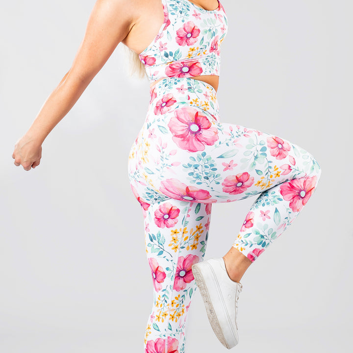 Sunset Floral 7/8 Leggings