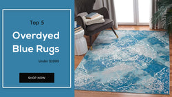 Overdyed Blue Rugs#https://www.rugknots.com/collections/overdyed-rugs