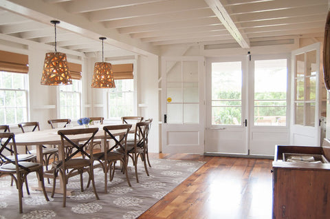 Genial Large Area Rug Under A Dining Room Table