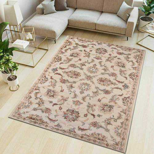 Tabriz Red Traditional Non-Slip Washable Rug
