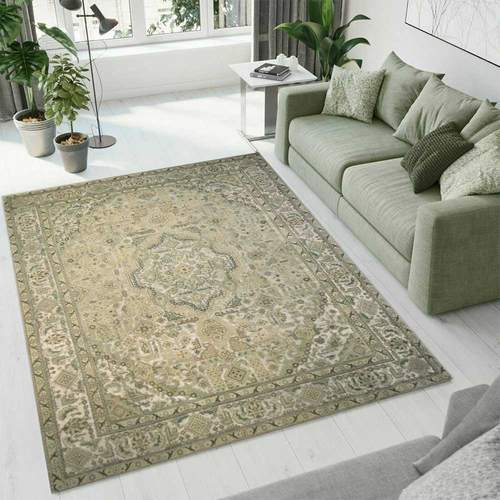 Tan Overdyed Area Rug