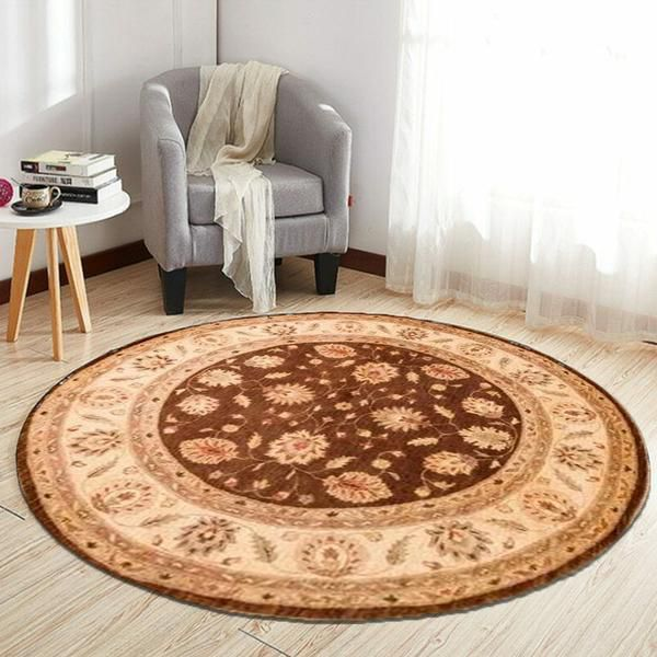 Round rugs in the living room