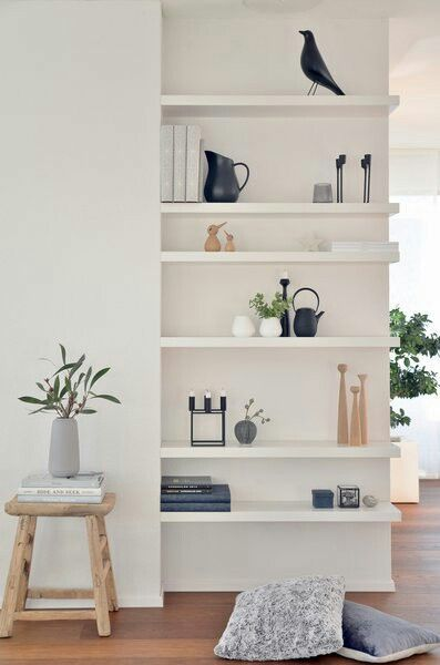 Pretty bookcase for the family room - just add baskets for toys: