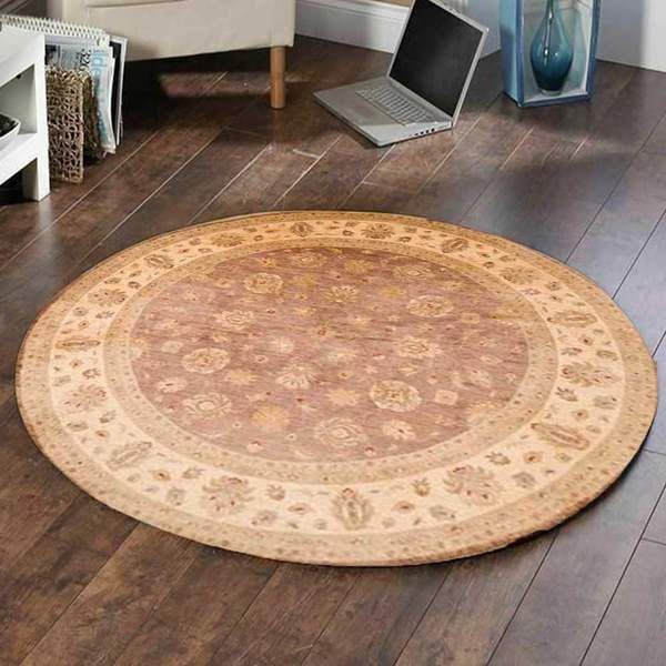 Round rugs in the BedRoom.