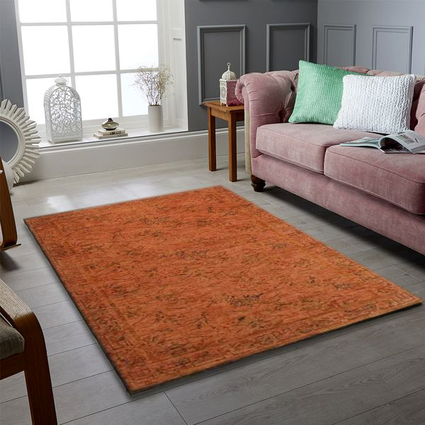 Brown Overdyed Area Rug