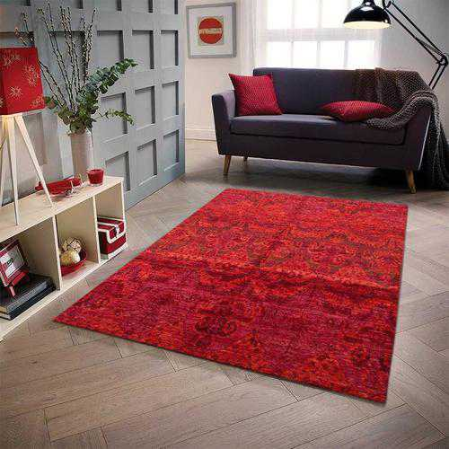 Red Ikat Area Rug