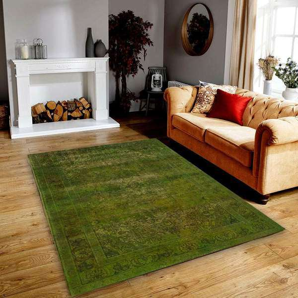Green Overdyed Area Rug<