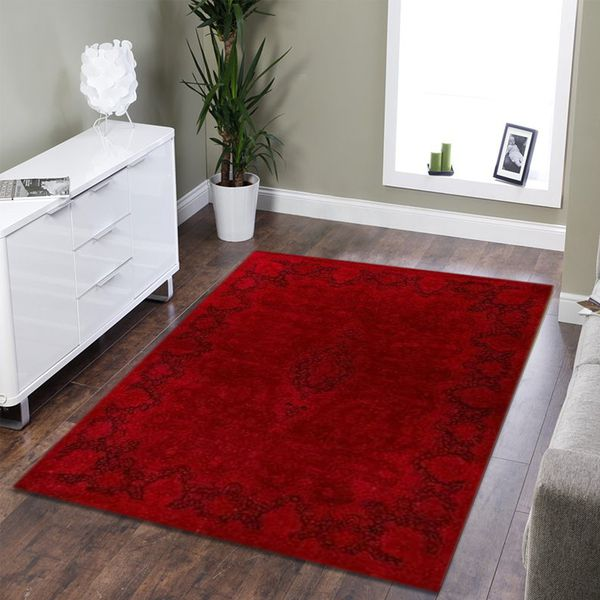 Red Overdyed Area Rug