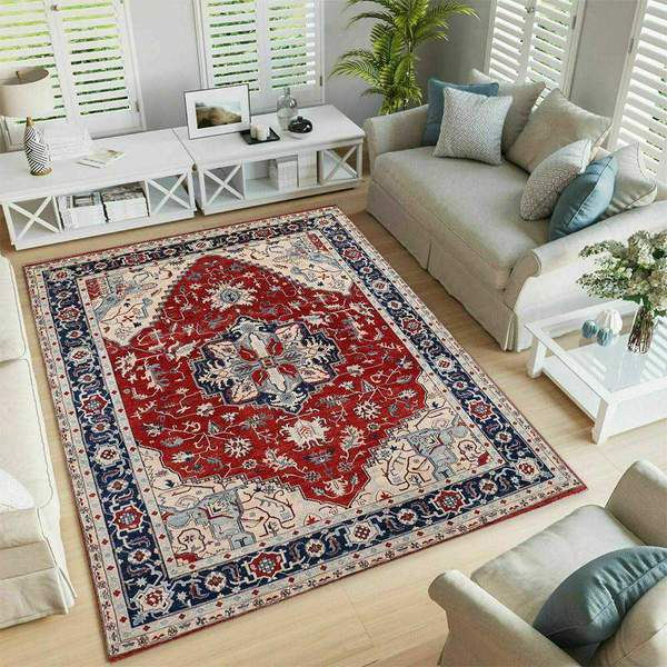 Red Oushak Area Rug