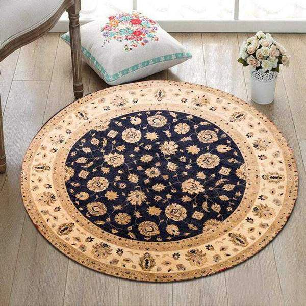 Complement your circular furniture with a round rug