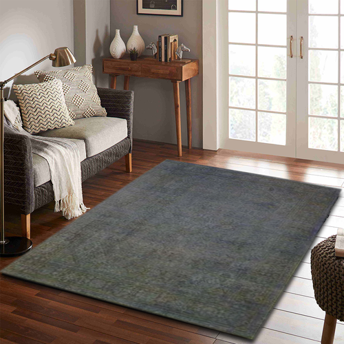 Silver Overdyed Area Rug