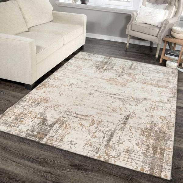 Ivory Neutral Area Rug