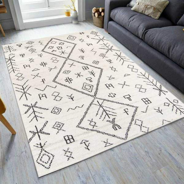 White Transitional Area Rug