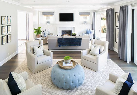 "Family Home with Classic Transitional Interiors - ""Living Room Furniture Layout"":"