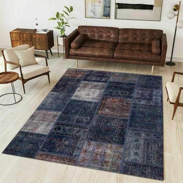 Multicolor Overdyed Area Rug