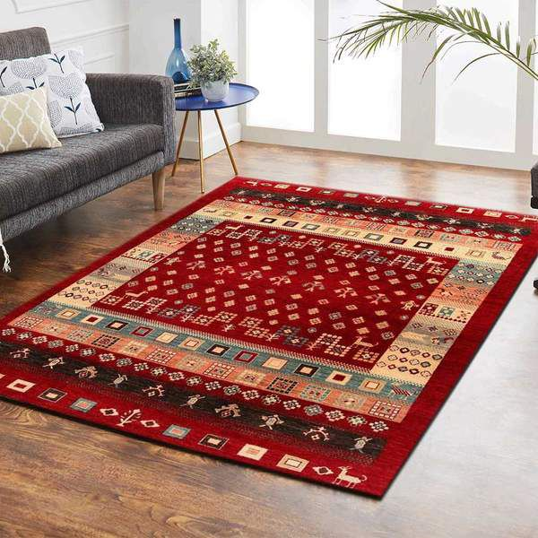 Red Gabbeh Area Rug
