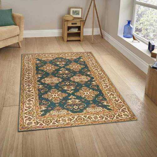 Teal Contemporary Area Rug