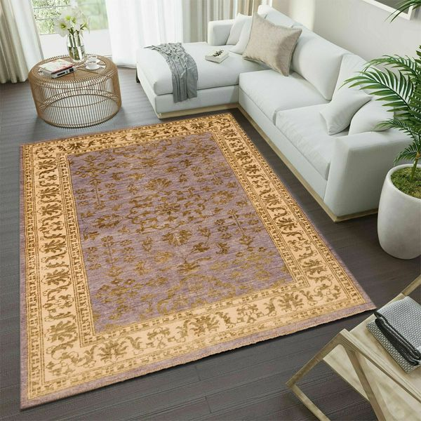 Method of cleaning an area rug: