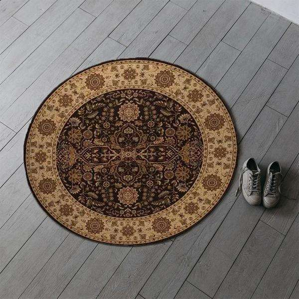 Brown Boho Chic Area Rug