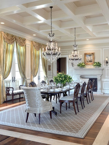 how to choose the best rug shape for your space rugknots rh rugknots com Formal Dining Room Rugs Formal Dining Room Rugs