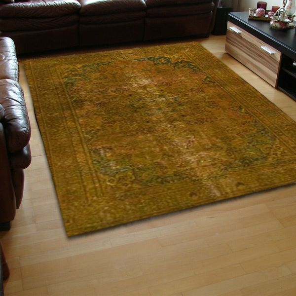 Gold Overdyed Area Rug
