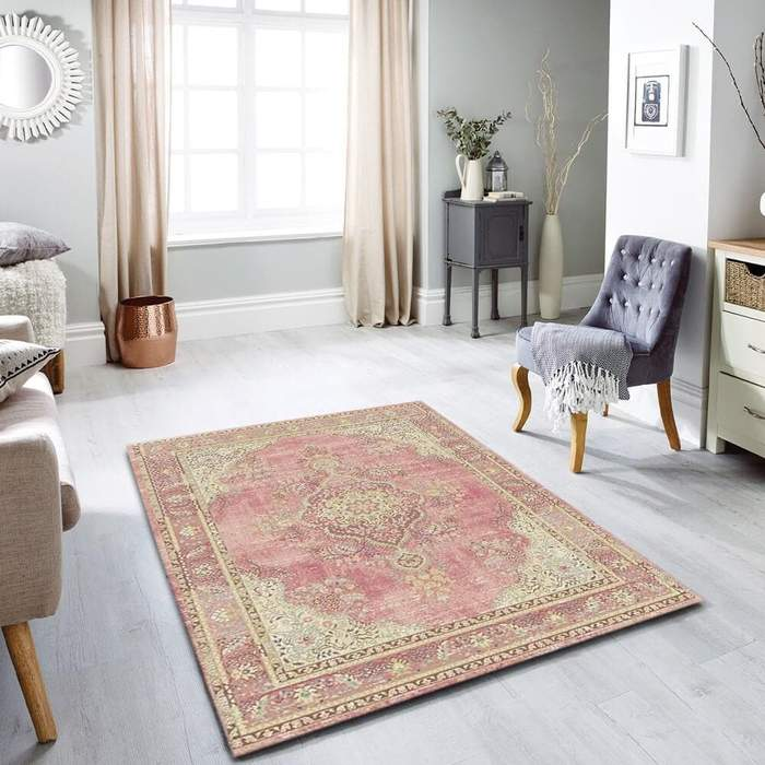 Pink Contemporary Area Rug