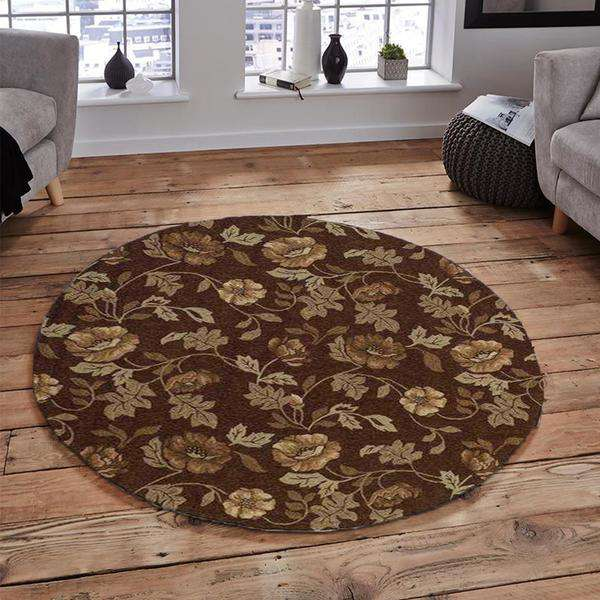 Brown Southwestern Area Rug