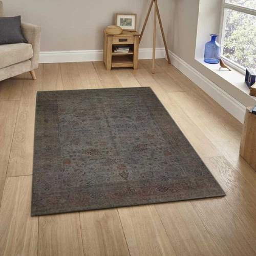 Gray Overdyed Area Rug