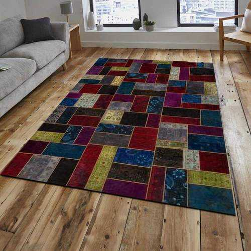Multi-Color Overdyed Area Rug