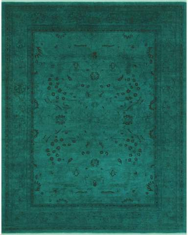 8x10 Green Overdyed Rug