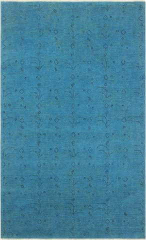 6x9 Blue Overdyed Rug