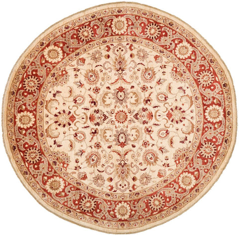 Pink circular rug from RugKnots.com