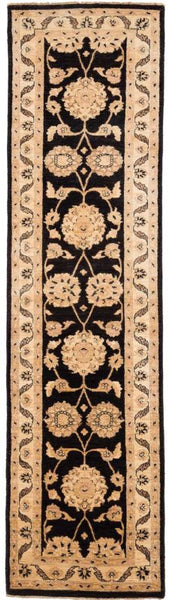 Black and Tan Peshawar Ziegler Runner Rug Image