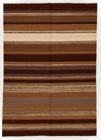 A 6x8 brown kilim rug from RugKnots.com