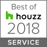 Award badge from Houzz.com for Best Of Service.